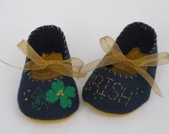 Notre Dame Fighting Irish Baby Booties