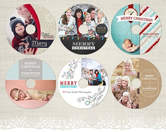 christmas cd labels etsy