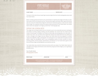 Prints Order Form Template for Photographers Photographer