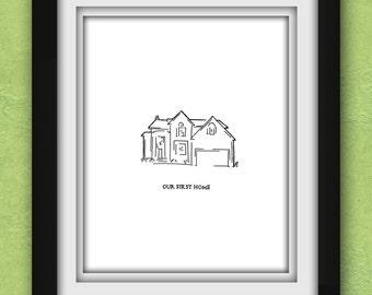 Custom Home Sketch