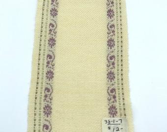 Handwoven miniature dollhouse rug