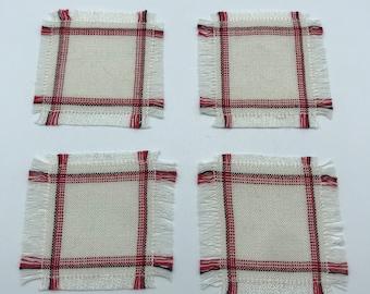 Handwoven miniature dollhouse napkins