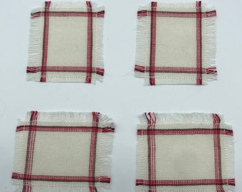 Handwoven miniature dollhouse placemats