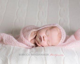 Newborn photography wraps set of 2, 3, 5 or 10 / Newborn wrap / Baby wrap / Newborn photo prop / Baby photo prop / Lace strecth wraps baby