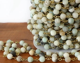 6mm,Plating Antique Red Bronze Wire Wrapped White Turquoises Round Bead Rosary Chain,Link Brass Howlite Sweater Chain Necklace Bracelets