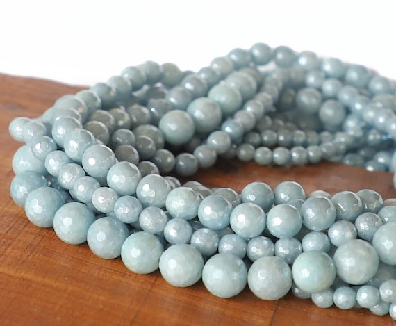 Colorful Graduated Magnesite Round Beads Size 8mm to 18mm 15.5/'/' Long