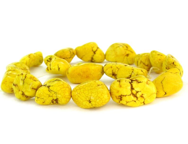 15 8mm Magnesite ROUND beads gemstone yellow