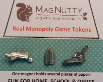 Classic Monopoly Tokens: super-strong magnets