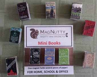 MagNutty Mini Book Magnets - set of 3
