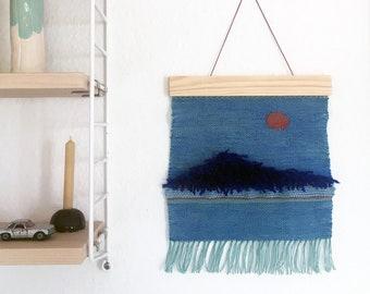 "Woven wall hanging ""sunbeam"""