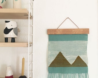 """Woven wall hanging """"hills"""""""