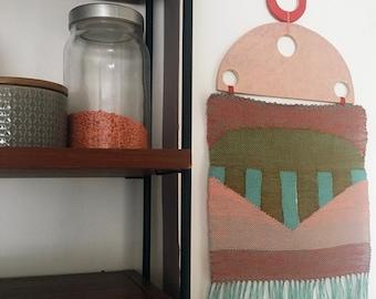 "Woven wall hanging ""sundown"""