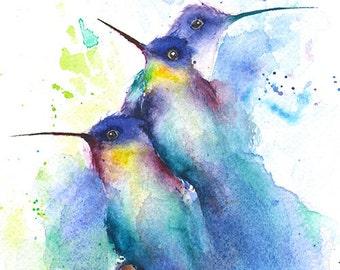 abstract birds etsy