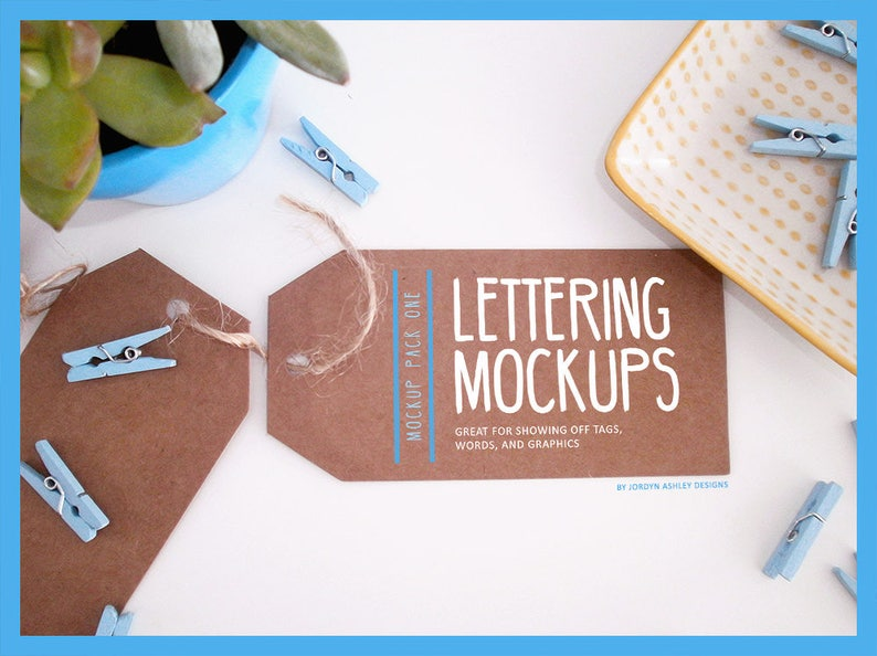 Lettering and Design Mockups image 0