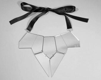 Mirror perspex necklace
