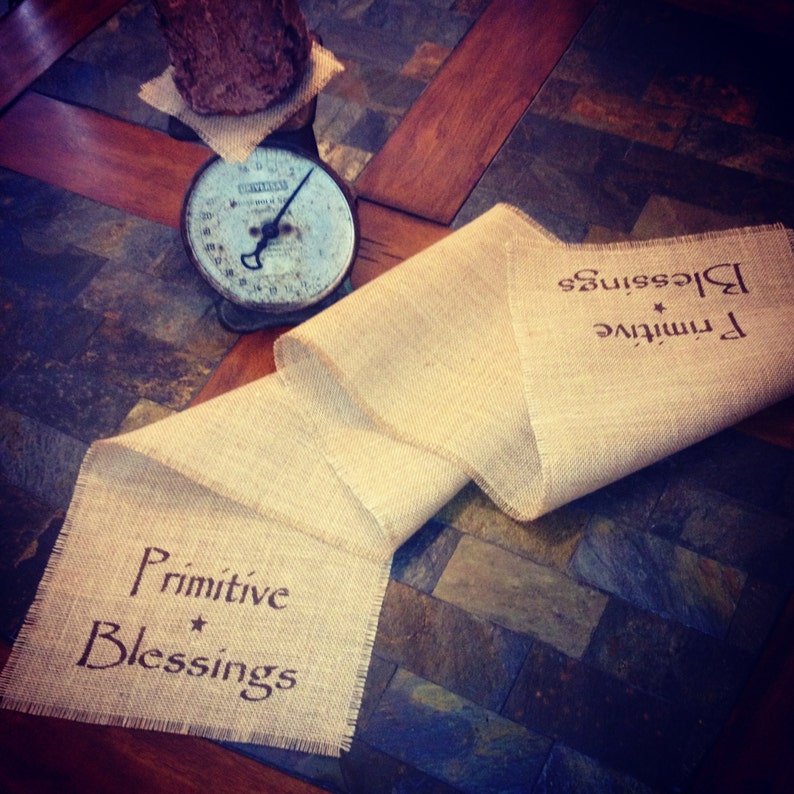 Primitive Natural Wired Burlap Ribbon Banner Serve The Lord Scripture Christmas