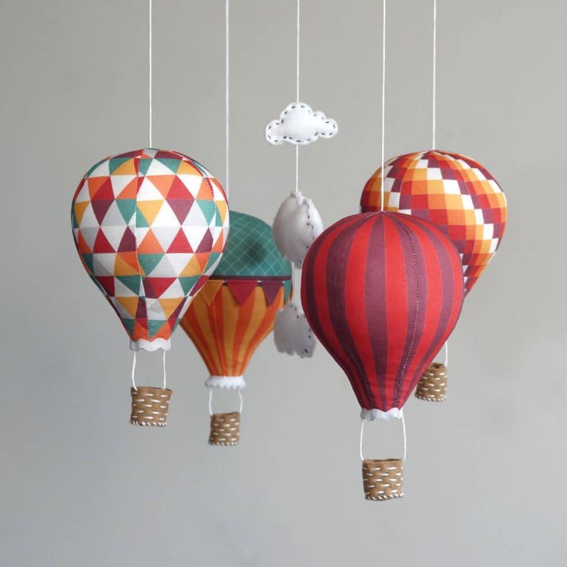 Hot air balloon baby mobile kit  Carnival image 0
