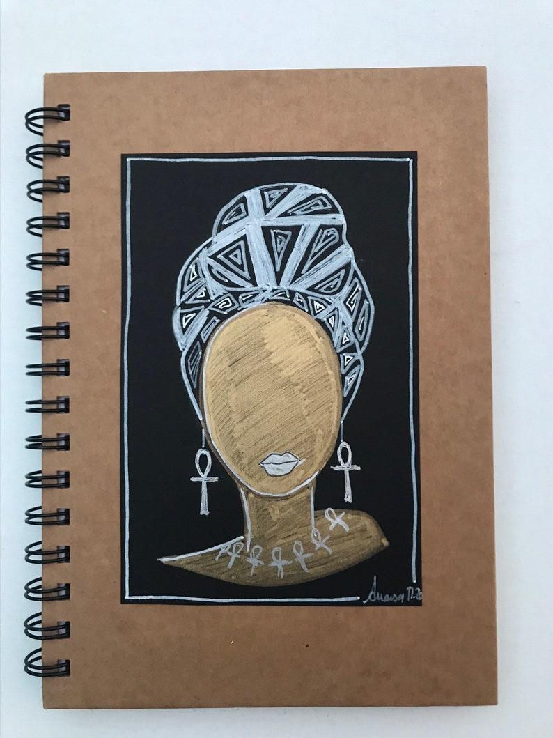 Black Girl Magic Handmade Notebook image 0