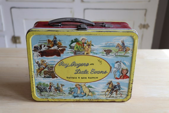 Vintage Roy Rogers Dale Evans Lunchbox with Therm… - image 1