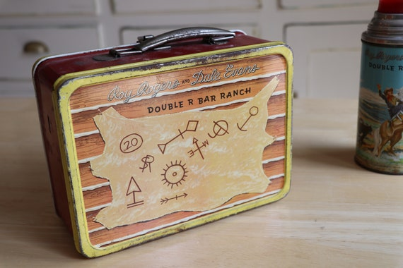 Vintage Roy Rogers Dale Evans Lunchbox with Therm… - image 5