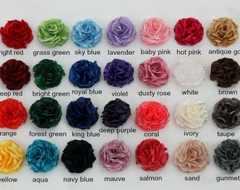 stretchy nylon headband or crocodile clip 54 Colours to Choose From! 3D Felt Rose Hair Accessory