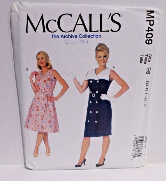 Mccalls Sewing Pattern Mp409 Plus Size 14 22 Archive Etsy