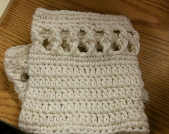 Twisted Around in a Round Boot Cuff Sock ~Crochet Pattern~