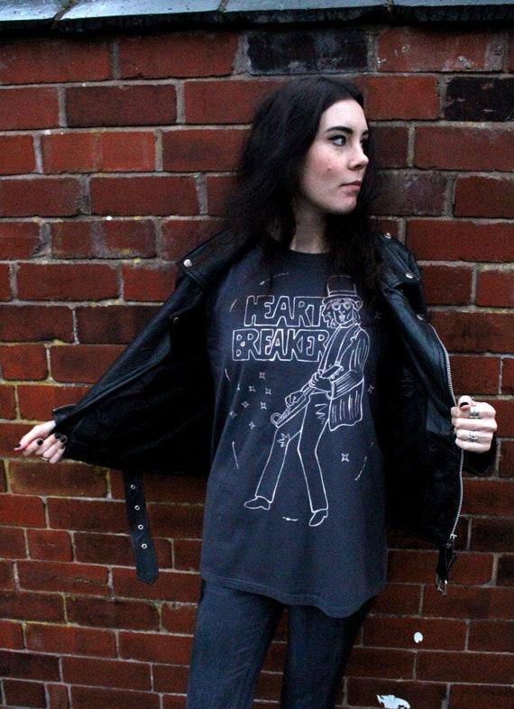 edc5be95d8cc9 TOM PETTY Heartbreaker peint à la main culte emblématique Pop Art Rock  psychédélique bande T-shirt