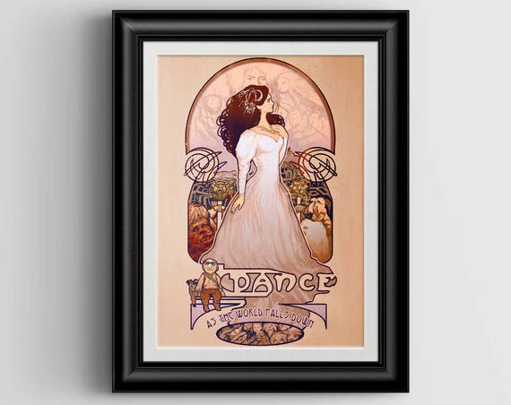 """As The World Falls Down signed art print - A4 Size (about 8.5""""x11.5"""")"""