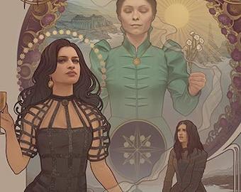 "Yennefer of Vengerberg - ""Witcher"" - signed art prints"