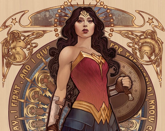 "Diana - Wonder Woman signed art print - A4 Size (about 8.5""x11.5"")"