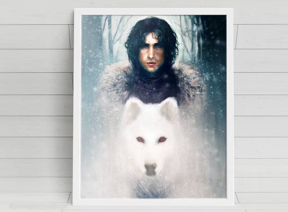 A Boy and His Dog - Jon Snow - signed art prints