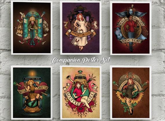 All *6* Companion Posters by Megan Lara & Omega Man 5000!