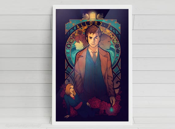 Allons-y - Tenth Doctor signed art prints