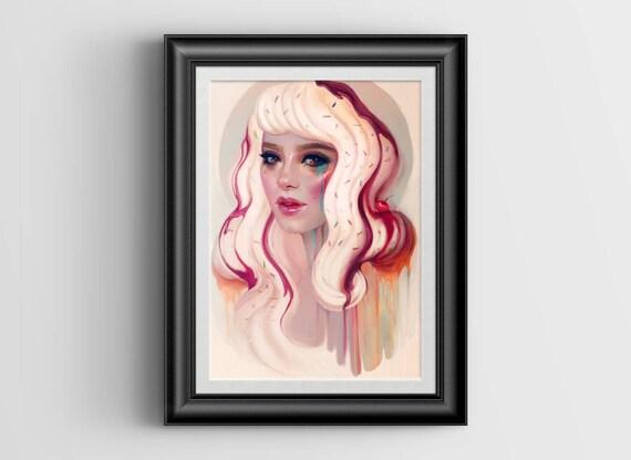 """à La Mode signed art print - A4 Size (about 8.5""""x11.5"""")"""