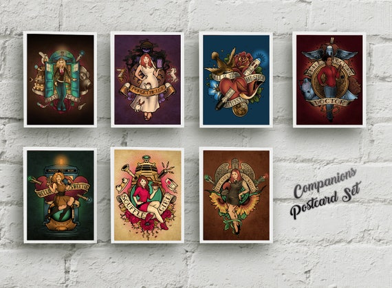 "The Companions - SEVEN Postcards Set - 4""x6"""