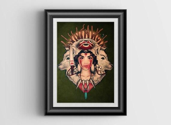 Spirit Princess - Princess Mononoke - signed art prints