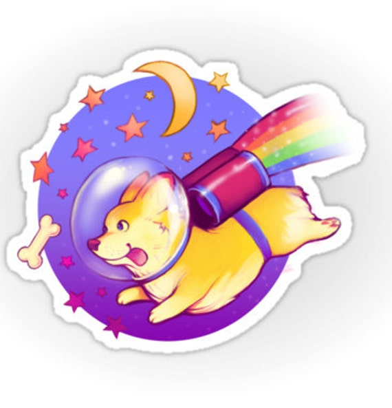 See You Space Corgi - Sticker