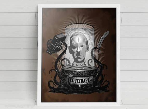 Lovecraft signed Poster Art Print - 11x14