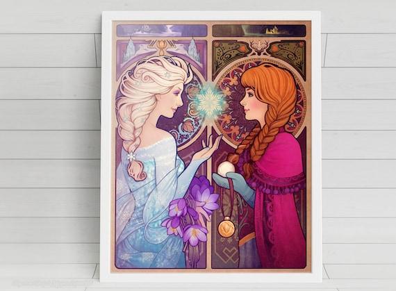 Let Me In - Elsa & Anna - signed art prints