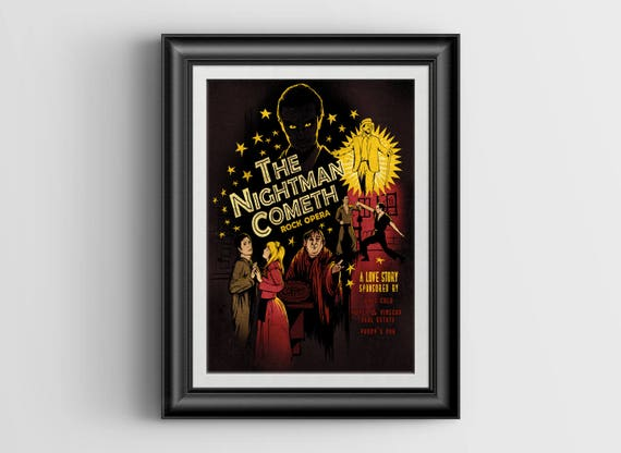 The Nightman Cometh - large signed postcard - 5.5 x 8.5 inch