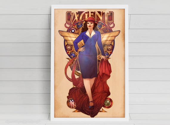 "Call Me Agent - ""Agent Carter"" - signed art prints"
