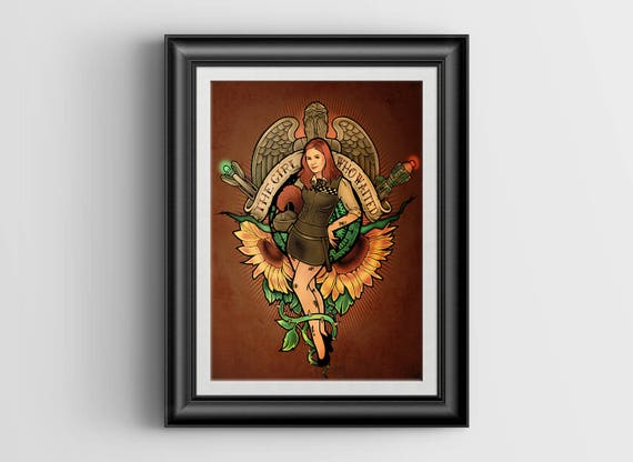 The Girl Who Waited signed art print - 8x10