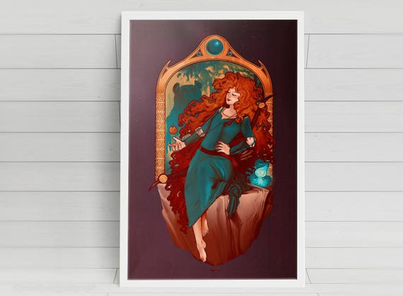 Chase the Wind - Merida - signed art prints