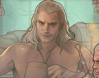 "Geralt of Rivia - ""Witcher"" - signed art prints"