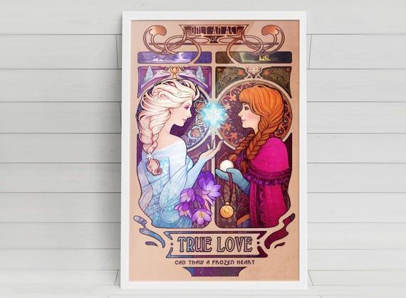 Let Me In - Anna & Elsa - signed art prints