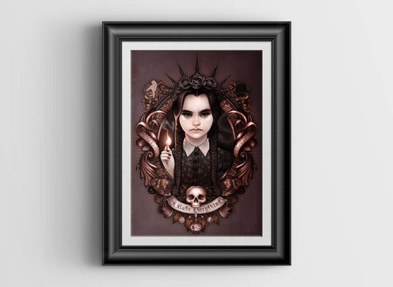 I Hate Everything - Wednesday Addams of The Addams Family 4x6 signed metallic artprint