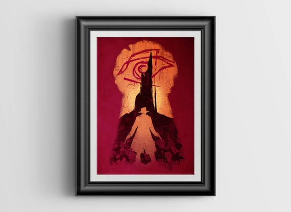 """He Followed - """"The Dark Tower"""" signed art print - A4 Size (about 8.5""""x11.5"""")"""