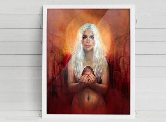 Through Fire and Flame signed Poster Art Print - 11x14