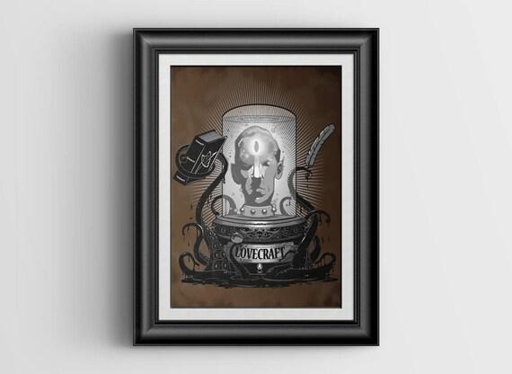 Lovecraft - signed Art Print - 4x5